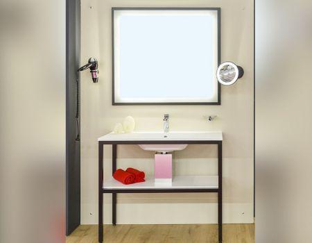 Strutture porta lavabo in metallo tubolare